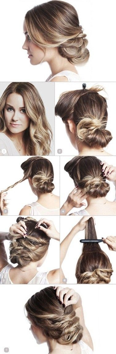 Hairdo tutorial, step by step hairdo instruction to get a great updo for a weddi...