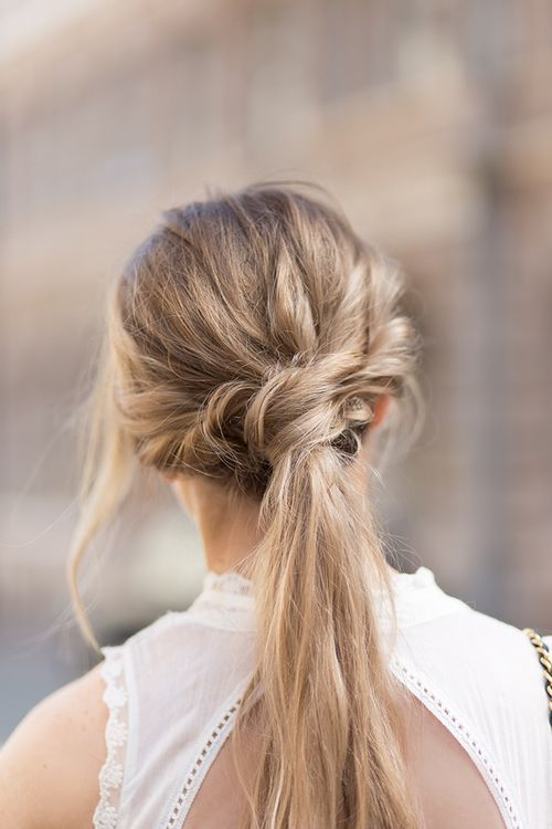 Long hair pony tail. Inspiration. Style. Trend. Fashion.
