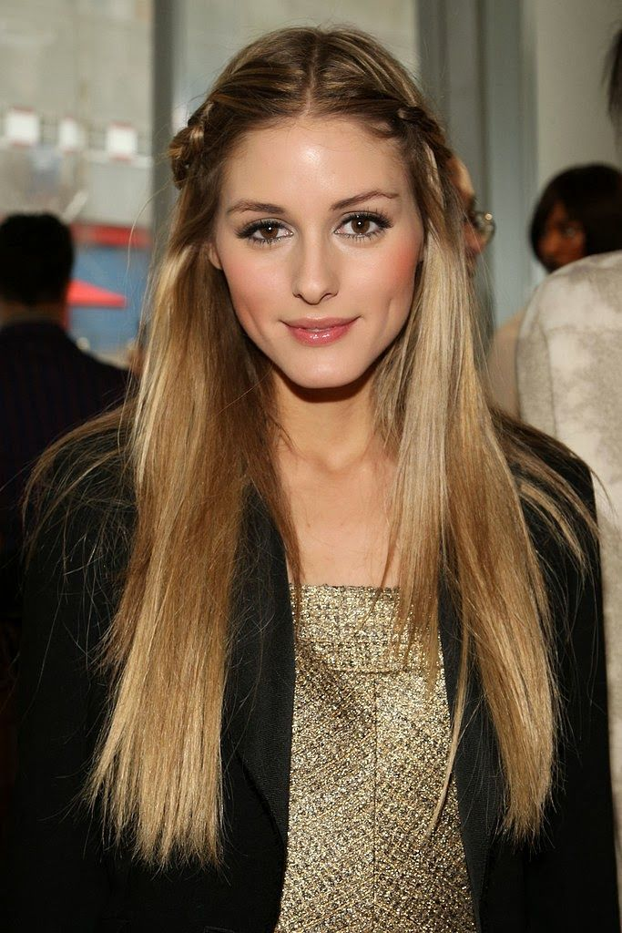 Long straight hair. Olivia Palermo hairstyle inspiration for girls with long hai...