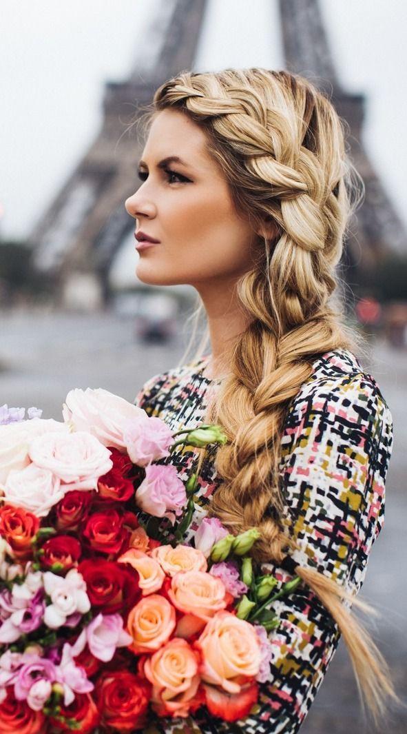 Loose side braid - I wish I had that much #hair....