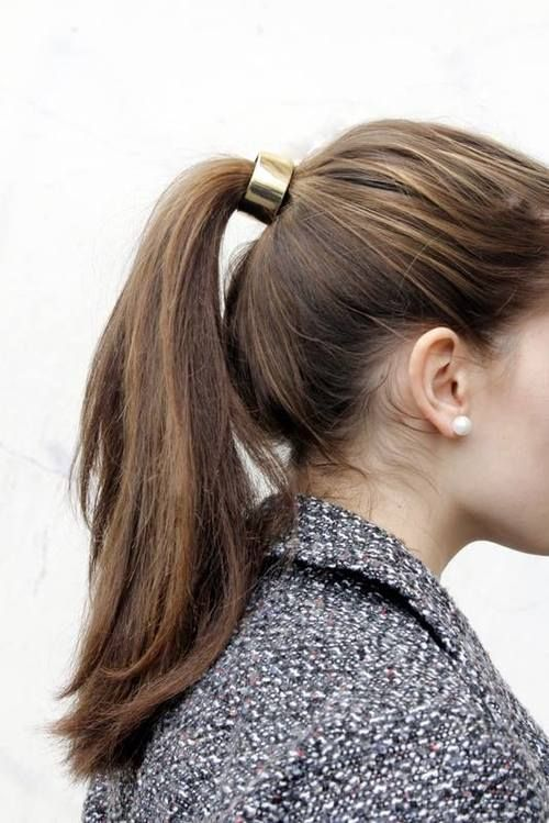 Metallic ponytail ring...