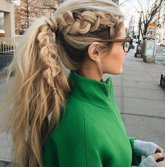 Nice hair for running errands