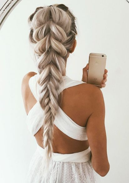 stylish long braid for long hair....