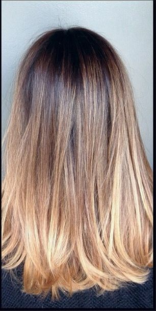 This ombre color by colorist Katherine Hyde is, well, perfect. If you still thin...