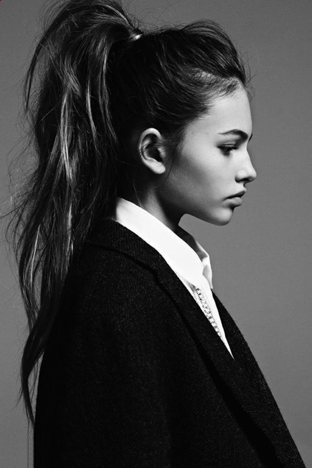 Volume pony tail for long hair. great updo.
