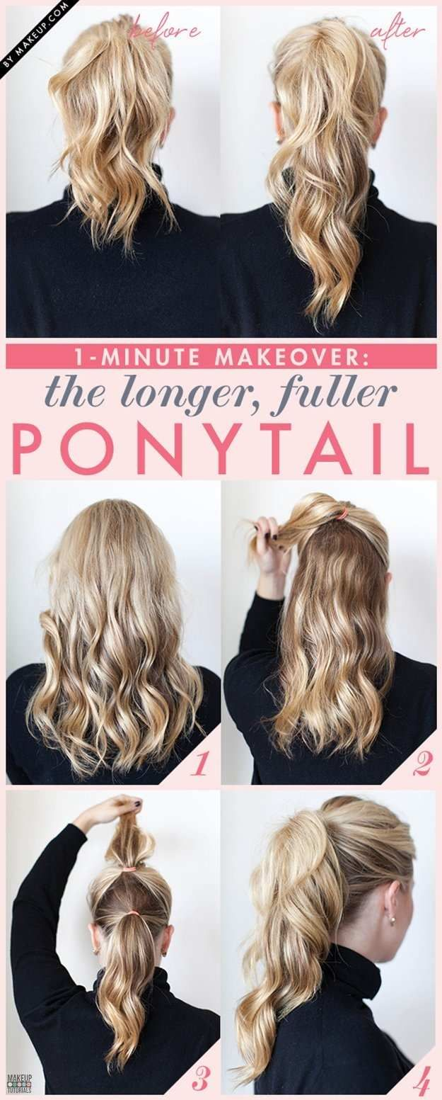 13. Fuller Ponytail Beauty Hack | 35 Beauty Hacks You Need To Know About