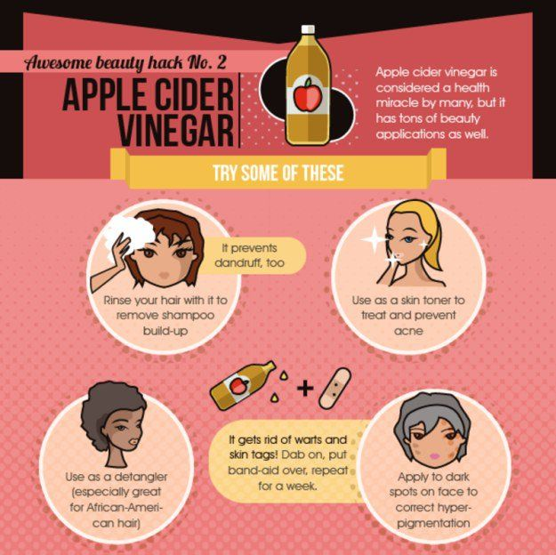 28. Apple Cider Vinegar Beauty Hacks   35 Beauty Hacks You Need To Know About...