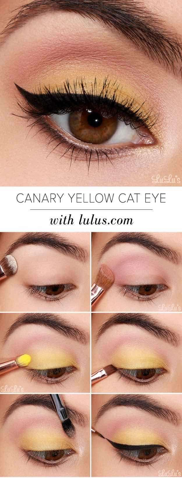 4. Yellow Eyeshadow - Cheerful Yellow Eyeshadow Tutorial for Beginners | Makeup ...