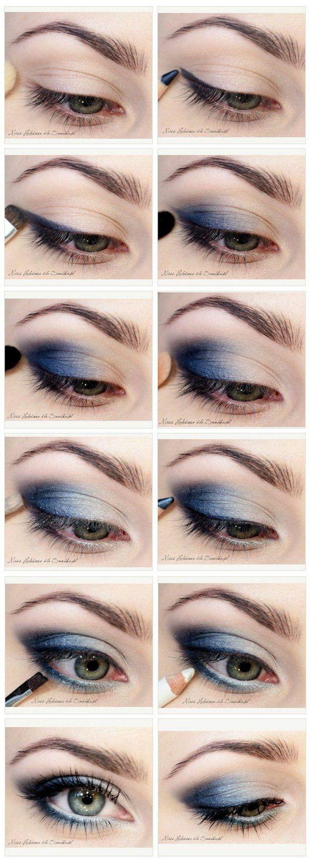 How to Do Blue Smokey Eyes | Graduation Makeup Tutorials by www.makeuptutoria......