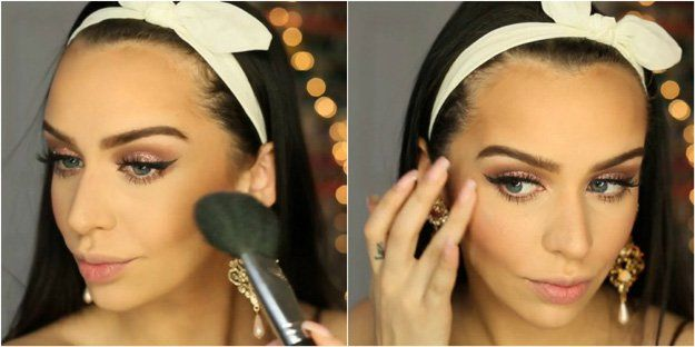 Work on the cheeks | Rose Gold Makeup Tutorial Perfect For Any Season...