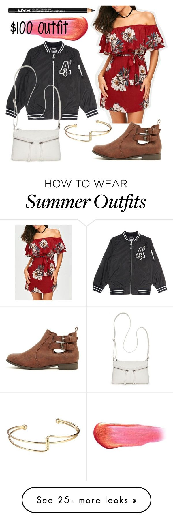 """""""$100 Outfit"""" by juliacharlotte on Polyvore featuring Bueno, NYX and e..."""