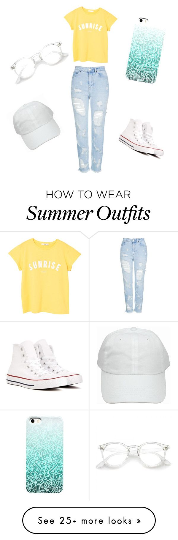 """Basic summer outfit ✨"" by stephk104 on Polyvore featuring MANGO, To..."