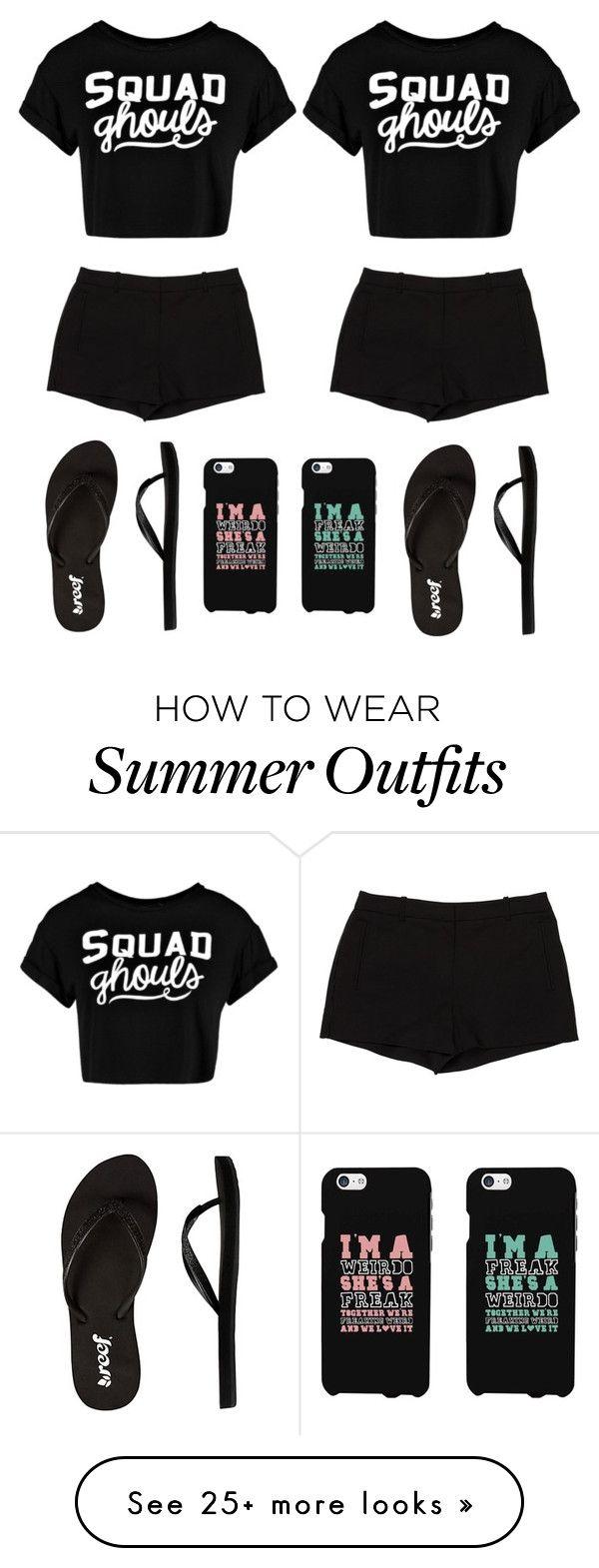 """black summer outfit w bestfriend❤️"" by alda-naura on Polyvore fea..."