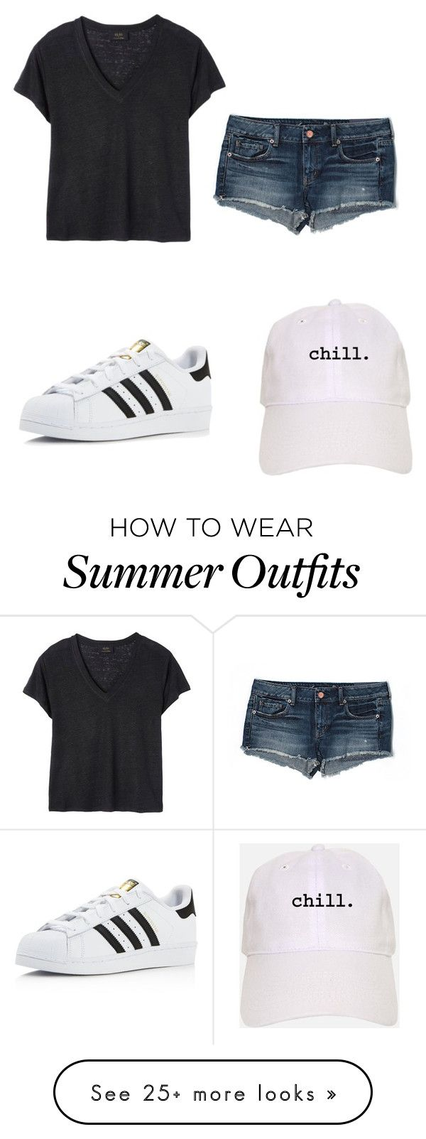 """Casual Summer"" by skysimpson on Polyvore featuring Deby Debo, adidas ..."