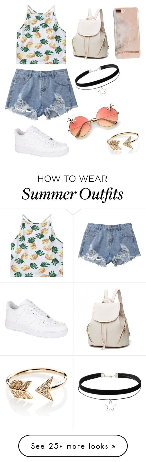 """""""Cute summer outfit"""" by surabikiki on Polyvore featuring NIKE and EF C..."""
