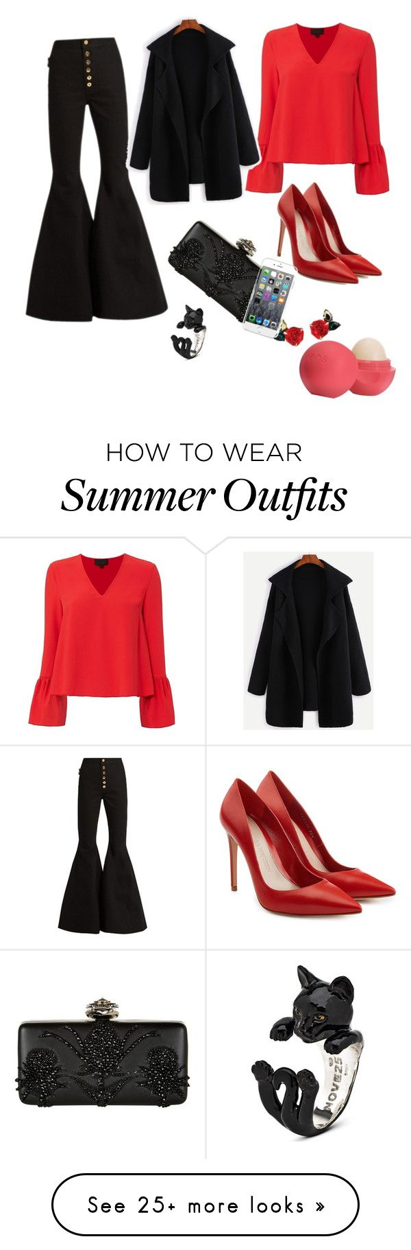 """Elegant outfit"" by monicapavel on Polyvore featuring E L L E R Y, Exc..."