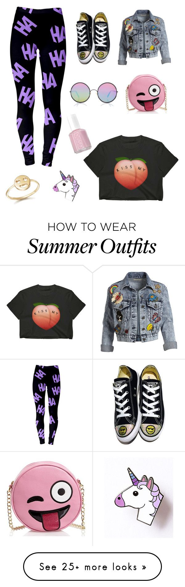 """Exciting Emoji Outfit"" by maneatingcaterpillar on Polyvore featuring ..."