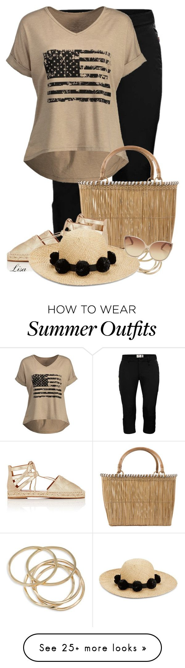 summer outfits flag graphic tee by lmm2nd on polyvore featuring fj llr ven a fashion. Black Bedroom Furniture Sets. Home Design Ideas
