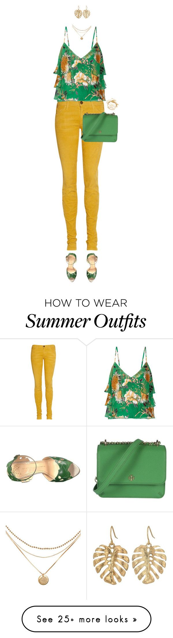 """""""Floral Top For Summer"""" by ittie-kittie on Polyvore featuring Current/..."""