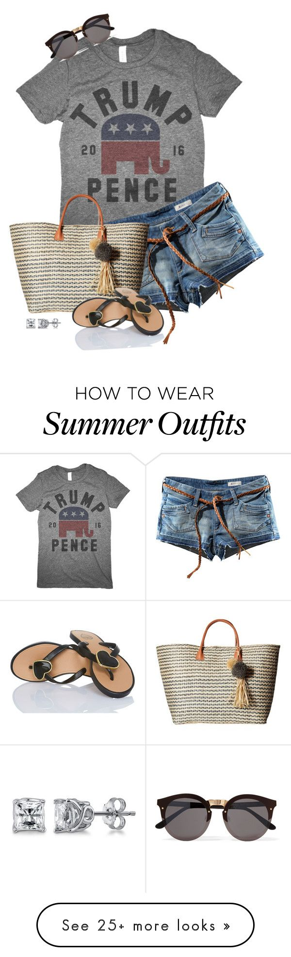 """""""Fun Summer MAGA Style"""" by kginger on Polyvore featuring H&M, Hat ..."""