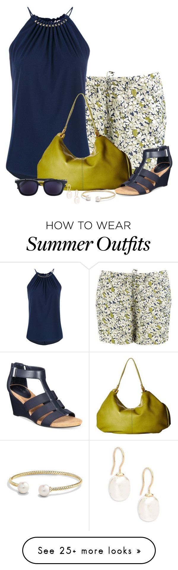 """Halter-neck Top with Floral Shorts"" by cathy0402 on Polyvore featurin..."