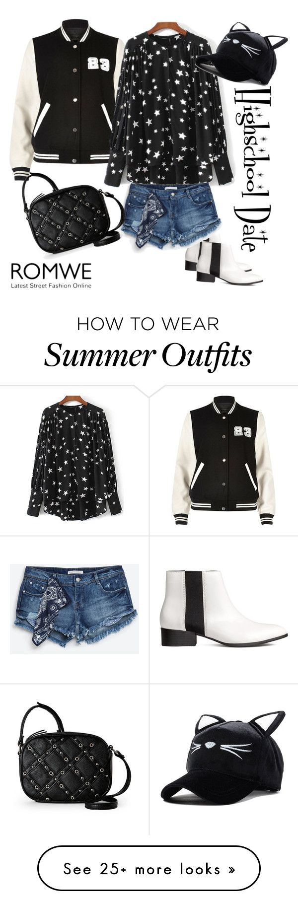 """""""Highschool Date Outfit"""" by tina-kene on Polyvore featuring H&M, R..."""