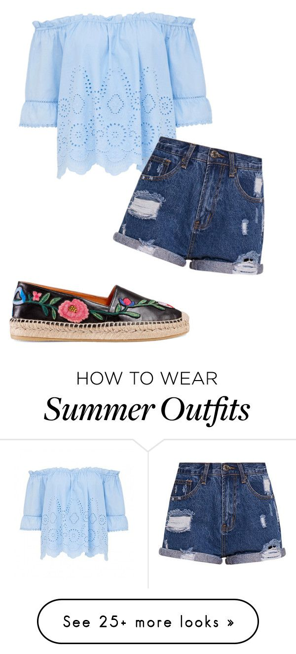 """""""Just a simple summer outfit"""" by benjiedaisy on Polyvore featuring Guc..."""