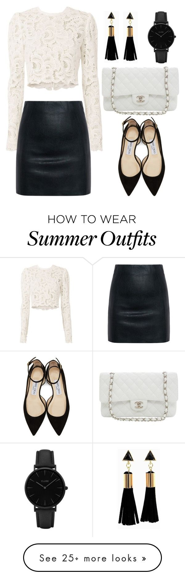 """Leather Skirt (OUTFIT ONLY!)"" by tlb0318 on Polyvore featuring A.L.C...."