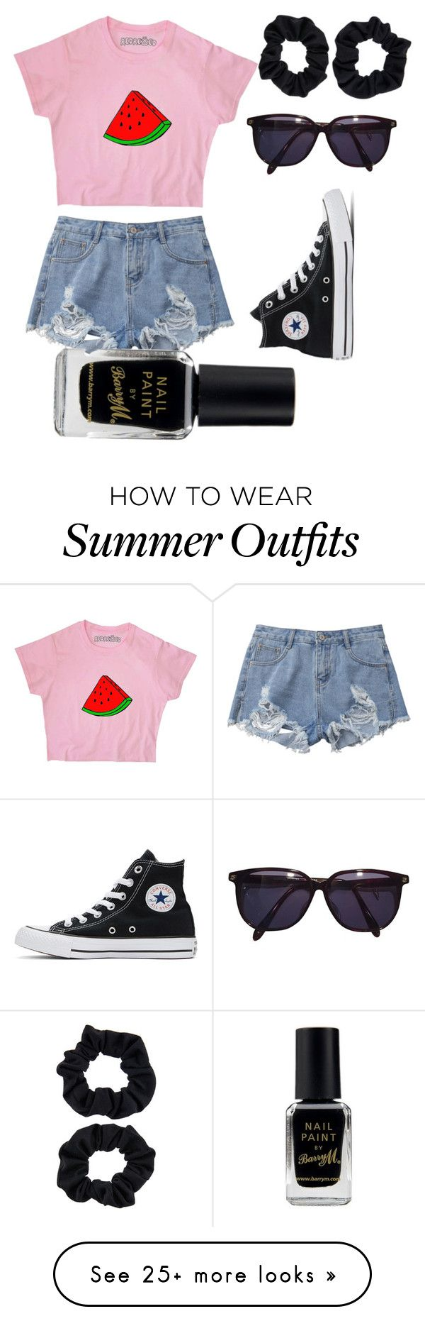 """""""No Problems!"""" by mia-lepez on Polyvore featuring Converse, Sonia Ryki..."""