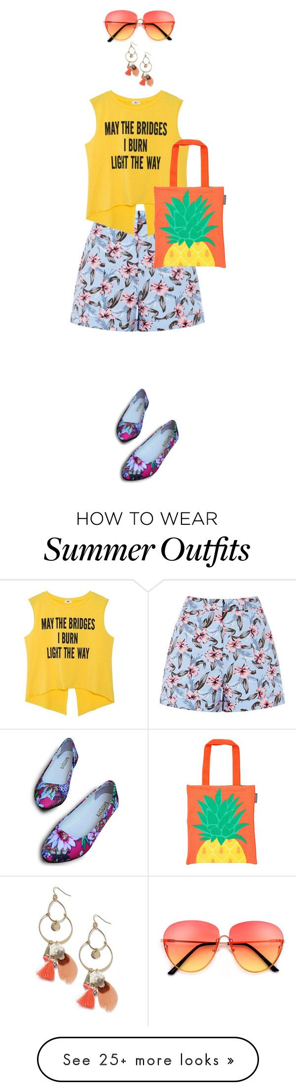 """""""pineapple"""" by monicawhb on Polyvore featuring Miss Selfridge and Sunn..."""