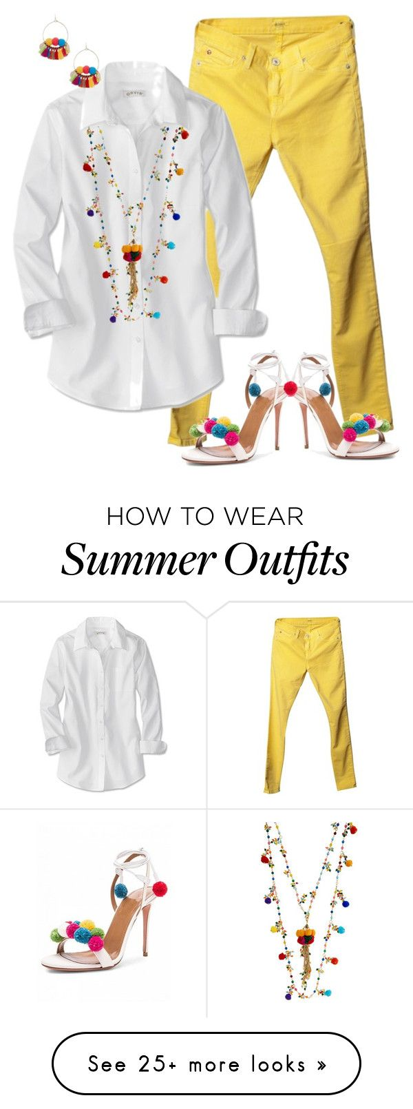 """""""Ppm Pom"""" by hope-houston on Polyvore featuring Hudson and Rosantica..."""