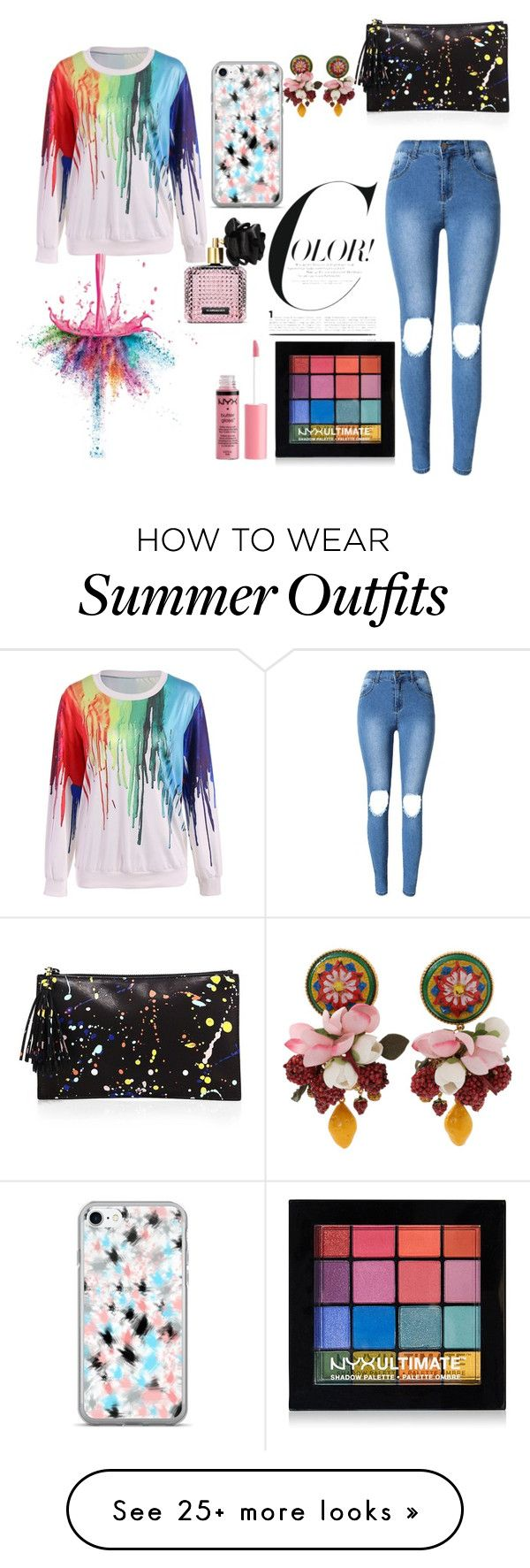 """""""Rainbow"""" by style2trend on Polyvore featuring Givenchy, NYX, Charlott..."""