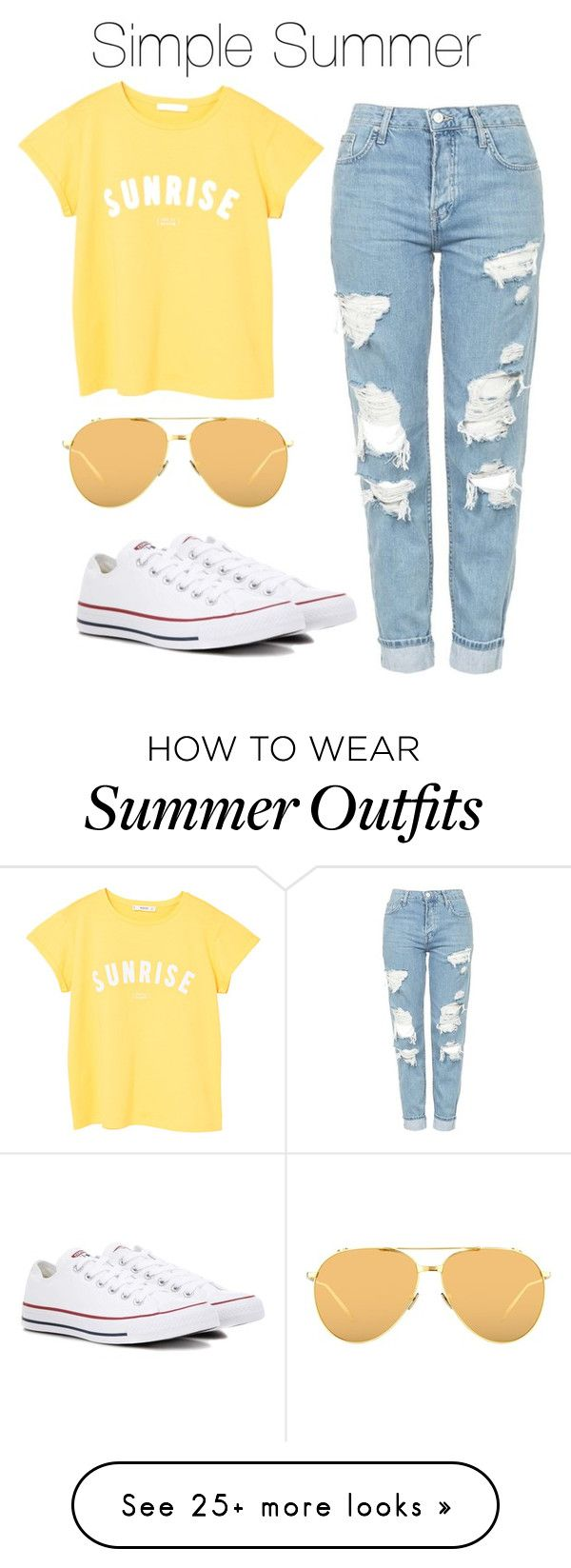 """Simple Summer Outfit"" by bekahlaw04 on Polyvore featuring Topshop, MA..."
