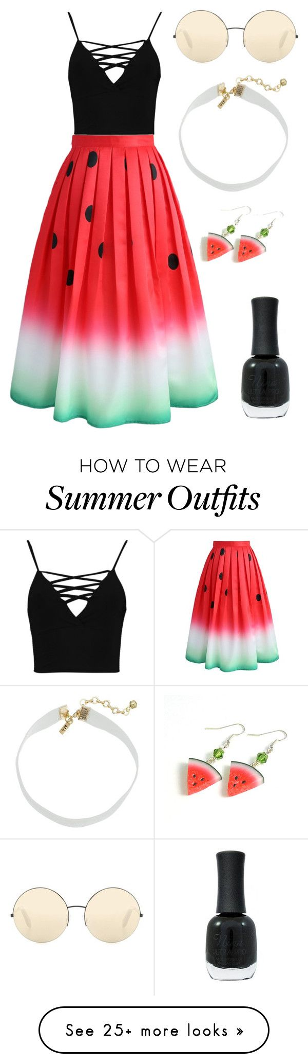 """""""Summer"""" by ajonas95 on Polyvore featuring Boohoo, Chicwish, Victoria ..."""