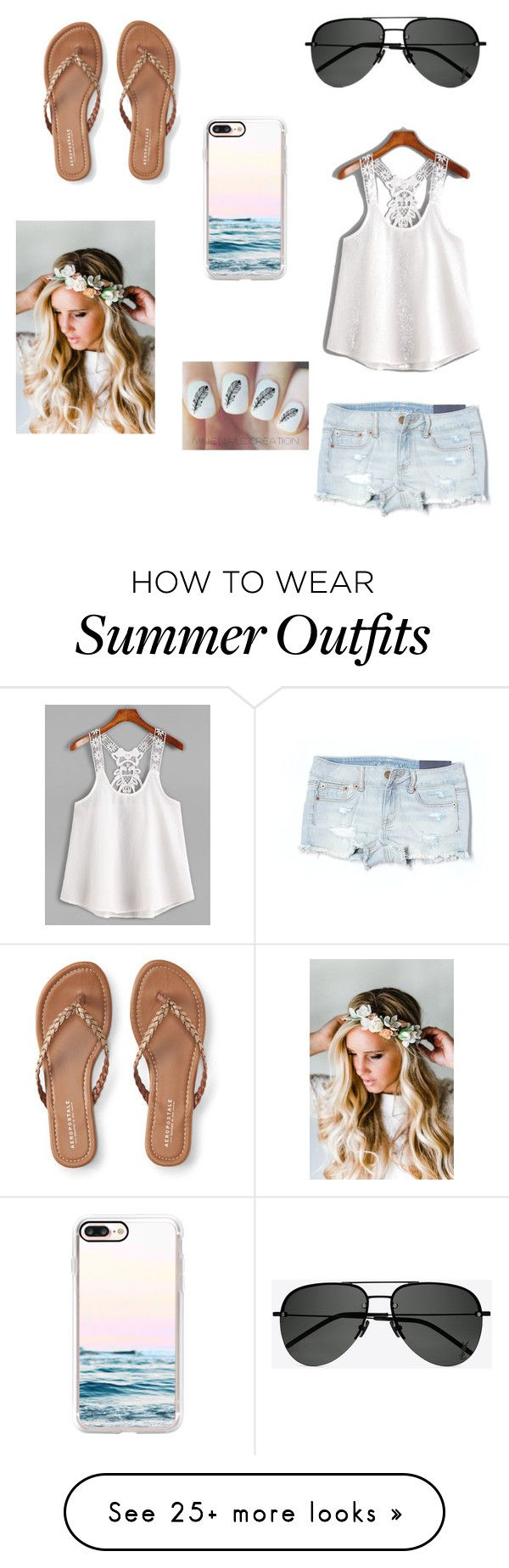 """Summer"" by rileymcd19 on Polyvore featuring American Eagle Outfitters..."