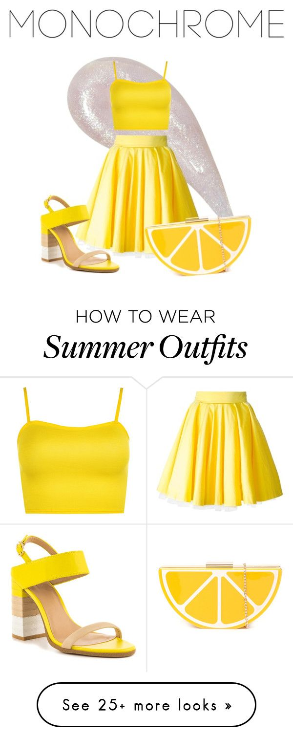 """""""Summer Lemon outfit"""" by eveethejinx on Polyvore featuring Philipp Ple..."""