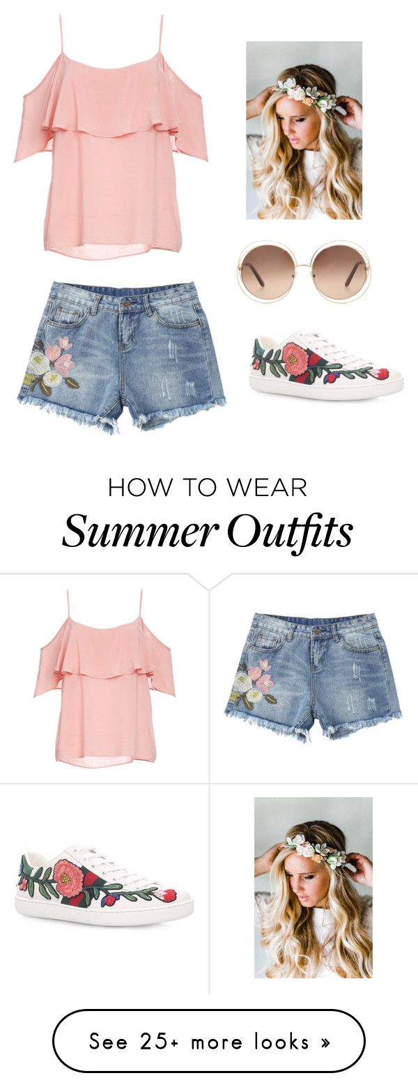 """""""summer outfit!!!"""" by dorothygabrielledelacruz on Polyvore featuring B..."""