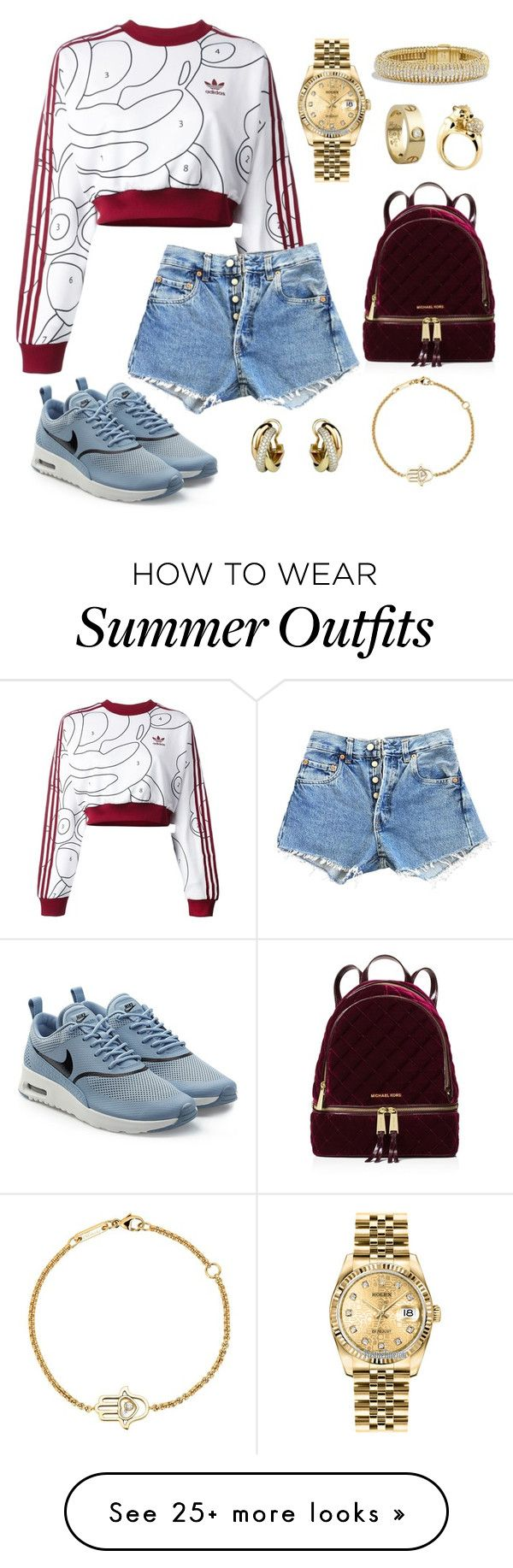 """Summer Outfit"" by fashionbymgda on Polyvore featuring Cartier, adidas..."
