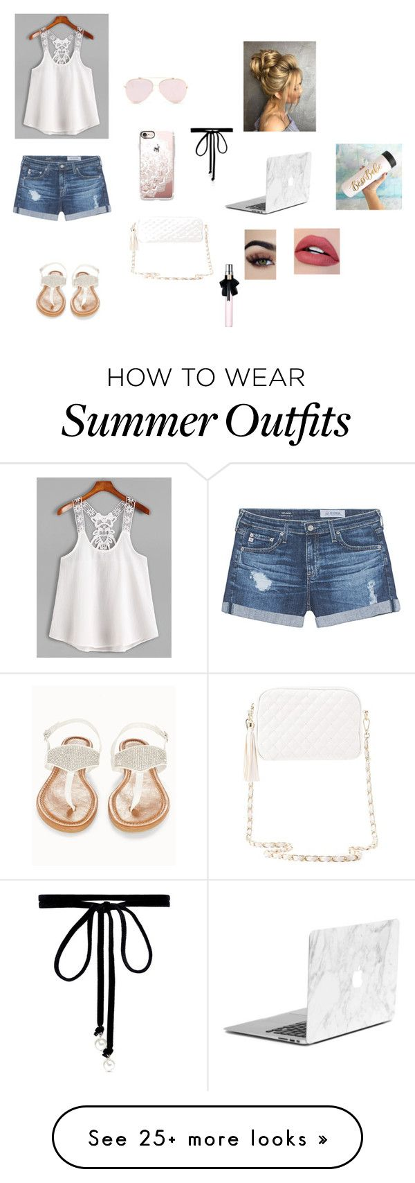 """""""summer outfit?"""" by pandabearcc on Polyvore featuring AG Adriano Golds..."""