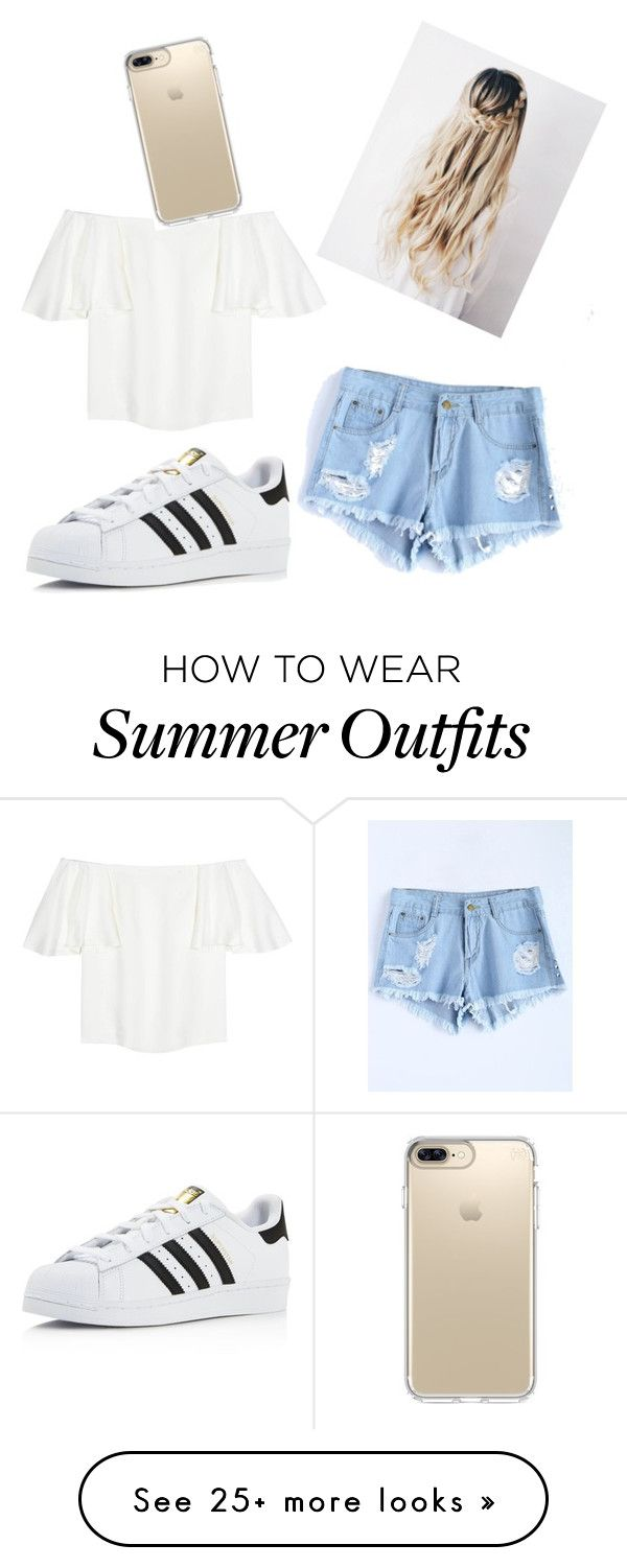 """""""Summer Outfit"""" by tutenaddison on Polyvore featuring Valentino, adida..."""