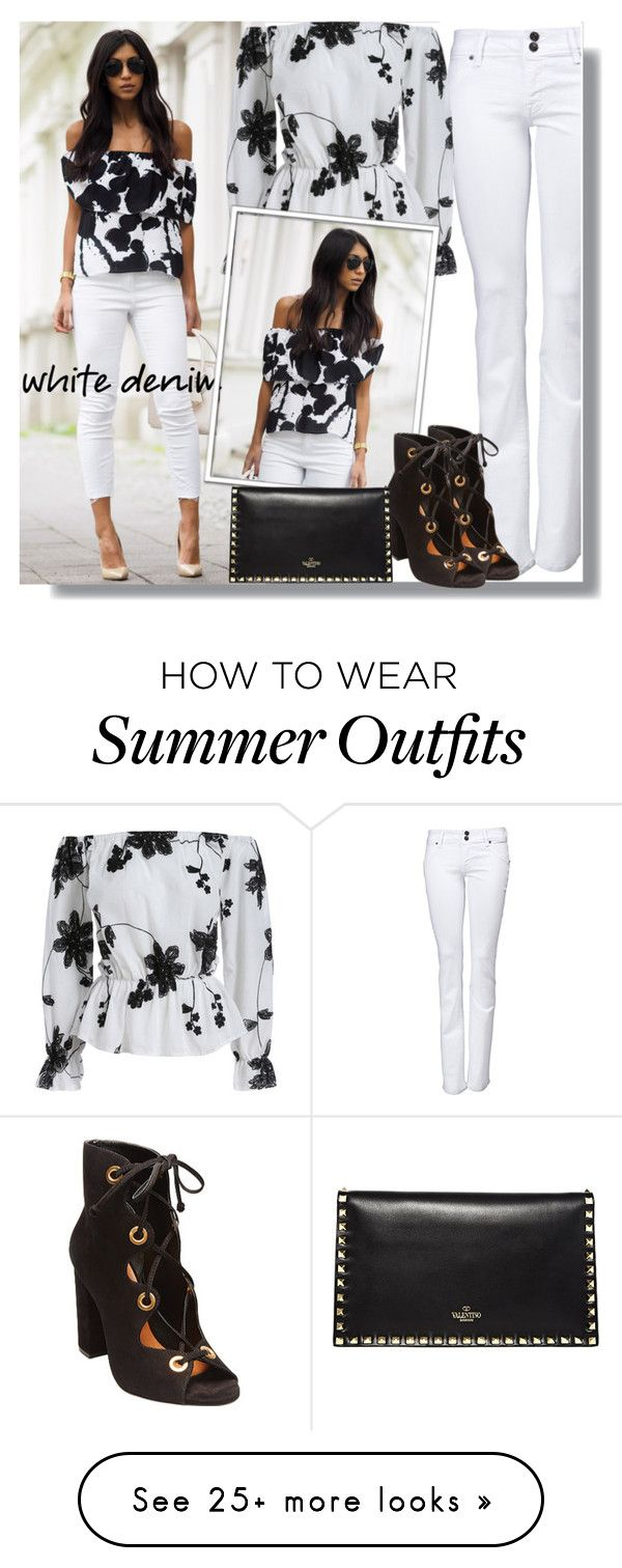 """""""Summer Style:  White Denim"""" by teah507 on Polyvore featuring Hudson J..."""