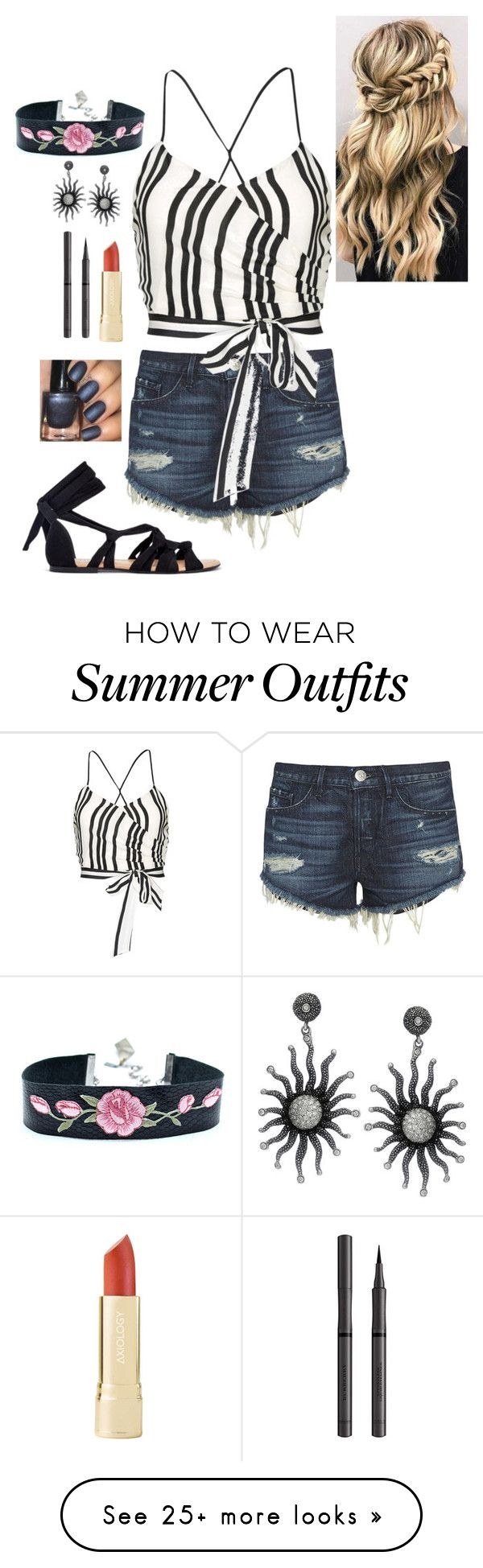 """Summer time outfit"" by goddessofbacon on Polyvore featuring 3x1, Alic..."