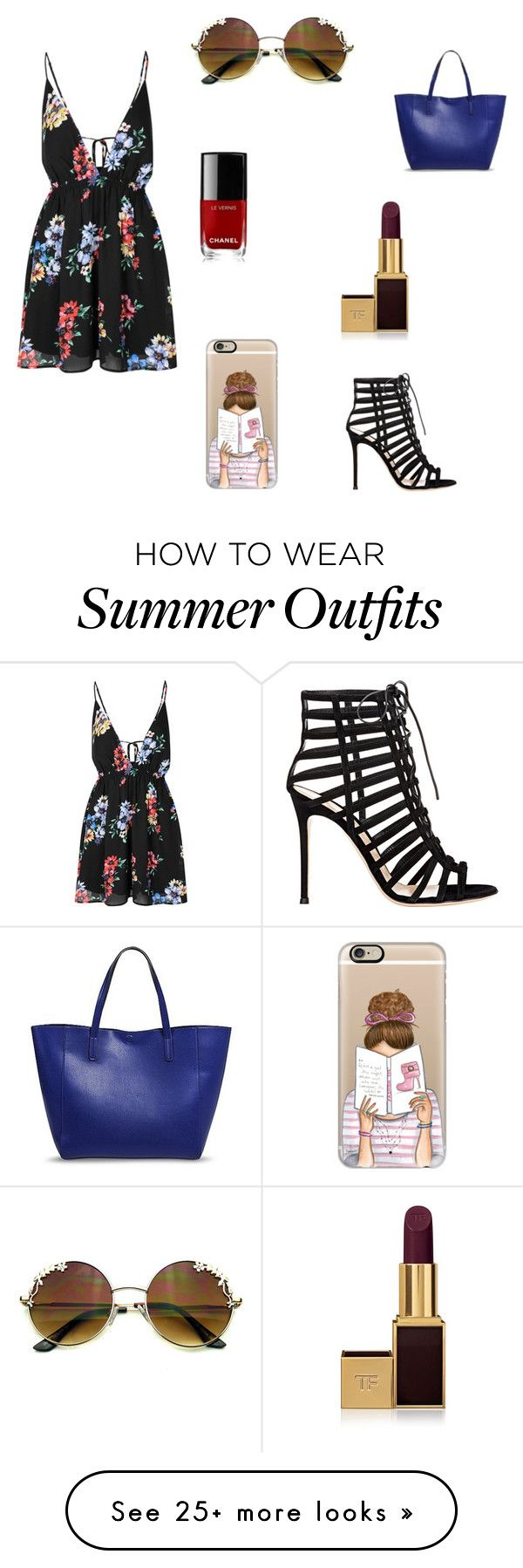 """""""Sunny summer outfit"""" by nattiestyle on Polyvore featuring Glamorous, ..."""