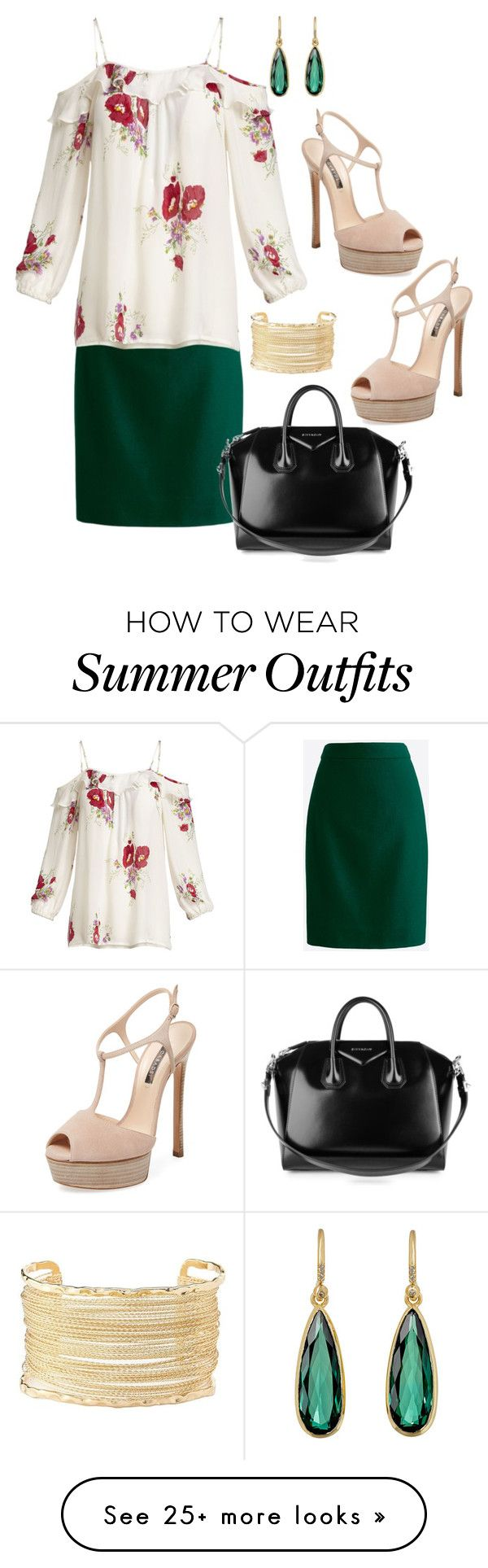 """Tropical Printed Outfit"" by pure-vnom on Polyvore featuring J.Crew, C..."