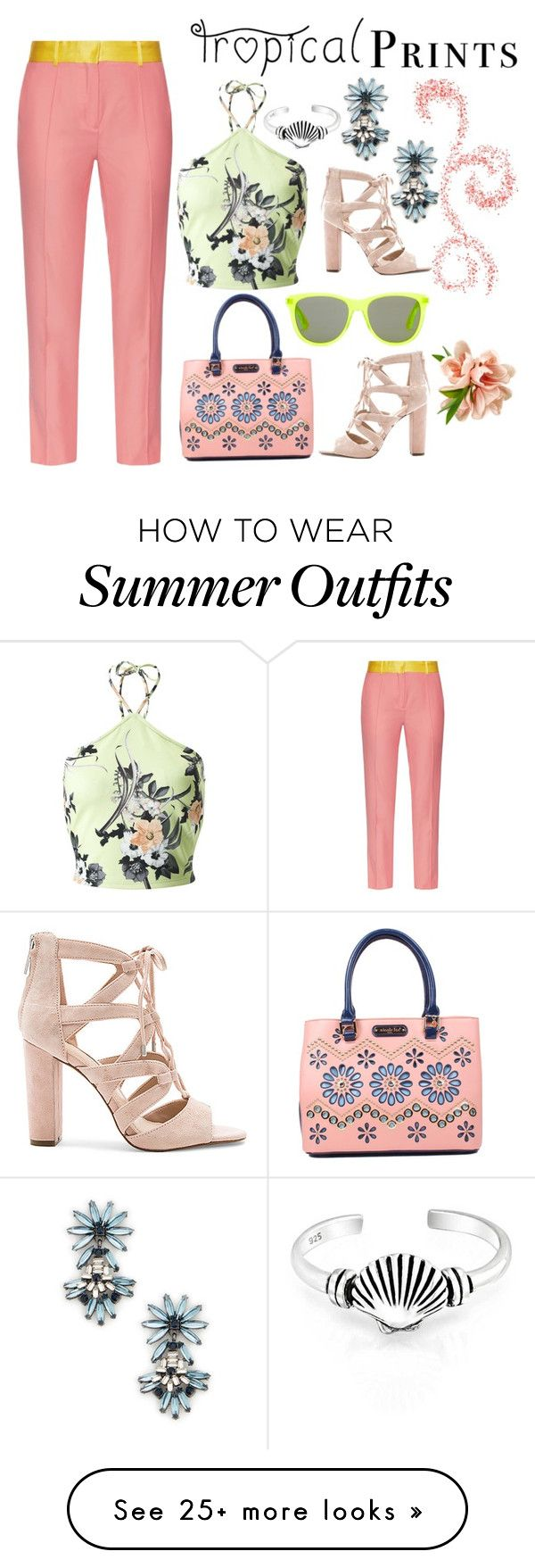 """Tropical Prints - Crop Top"" by ladygroovenyc on Polyvore featuring Ra..."