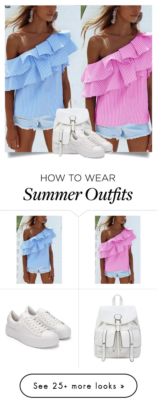 """""""Yoins: One-Shoulder Tops"""" by yoinscollection on Polyvore featuring vi..."""