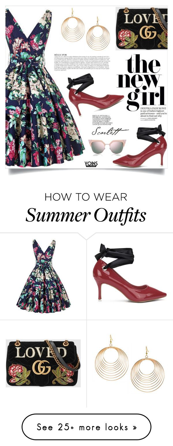 """""""Yoins: Vintage Dress"""" by yoinscollection on Polyvore featuring Gucci,..."""