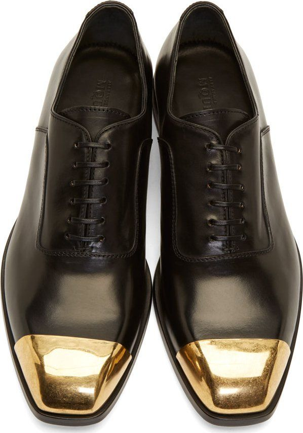 The Best Men s Shoes And Footwear   Alexander McQueen Black Leather ... 17019a145
