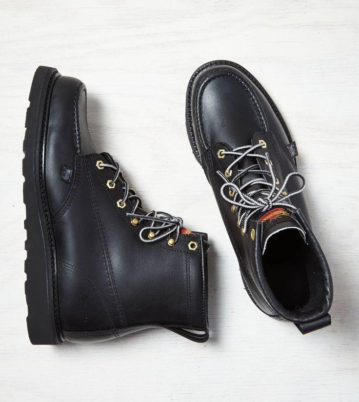 "Black Thorogood 6"" Moc Toe Boot..."