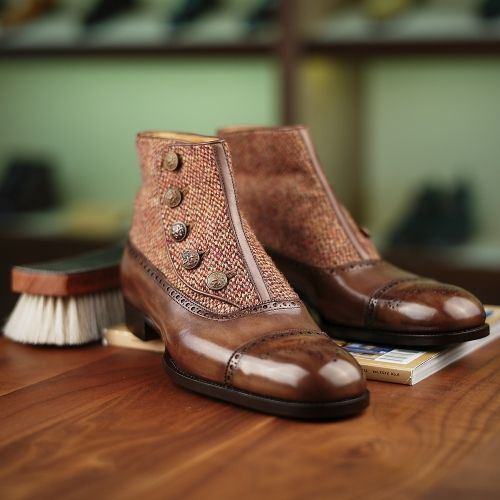 Made to Order Button-up Balmoral Boot - Saint Crispin's Model 608